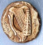 Celtic Harp Fridge Magnet